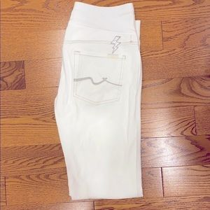 Maternity White Jeans 7 for all Mankind